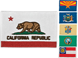 Evike.com Tactical Embroidered U.S. State Flag Patch (State: California The Golden State)
