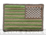 Matrix Velcro U.S. IFF Flag Patch - Reversed - Land Camo (Matches Multicam)