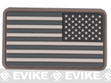 US Flag PVC Hook and Loop Rubber Patch (Color: Reverse / SWAT)