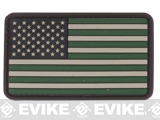 US Flag PVC Hook and Loop Rubber Patch (Color: Regular / Foliage)