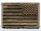 Matrix Velcro U.S. IFF Flag Patch - Reversed. (Tan)