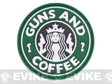 "Matrix ""Guns and Coffee"" Morale PVC Velcro Patch"