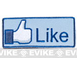 "Evike Marketing ""Like"" IFF Velcro Morale Patch"
