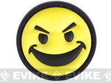 PVC IFF Hook and Loop Morale Patch - Angry Smiley Face