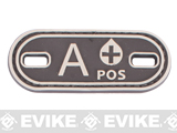 Matrix Oval Blood Type PVC Hook and Loop Patch (Type: A POS / Brown)