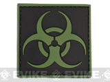 PVC Hook and Loop Patch - Biohazard Symbol