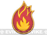 PVC Morale IFF Hook and Loop Patch - Flame
