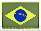 Brazil Flag PVC Velcro Patch