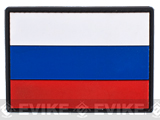 PVC Hook and Loop International Flag Patch (Flag: Russia)