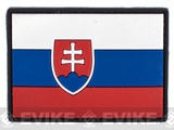 PVC Hook and Loop International Flag Patch (Flag: Slovakia)