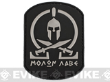 "Evike.com ""Molon Labe"" PVC Rubber Velcro IFF Patch - Black / Grey"