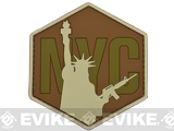 NYC Airsoft IFF PVC Morale Velcro Patch - Brown / Tan