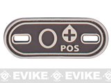 Matrix PVC Oval Blood Type Hook and Loop Patch - O POS / Brown