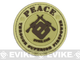 PVC Hook and Loop IFF Patch - Peace Through Superior Firepower (2.5) Desert