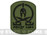 Very Tactical Molon Labe PVC Hook and Loop Patch - Green / Black