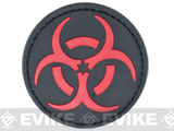 PVC Morale IFF Hook and Loop Patch - Biohazard / Red
