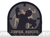 Zombie Hunter IFF PVC Rubber Velcro Patch - 70mm / ACU