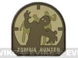 Zombie Hunter IFF PVC Rubber Velcro Patch - 70mm / Arid