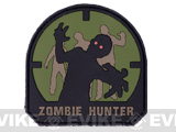 Zombie Hunter IFF PVC Rubber Velcro Patch - 70mm / Forest