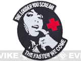 Matrix Scream Faster Medic Hook and Loop Morale Patch (Color: Black)
