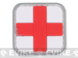 Medic Cross PVC Velcro Patch - Red & White