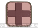 Medic Cross PVC Hook and Loop Patch - Brown