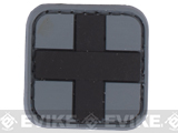 Medic Cross PVC Hook and Loop Patch (Color: SWAT)