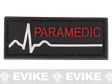 Paramedic PVC Hook and Loop Patch - Red / Black