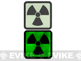 Atomic 20mm Glow in the Dark PVC Velcro IFF Patch - Green