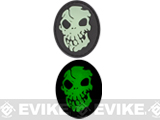 Skull Glow in the Dark PVC IFF Hook and Loop Patch - Black