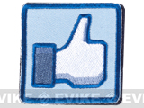 Matrix Thumbs Up 2 Hook and Loop Patch (Color: Blue)