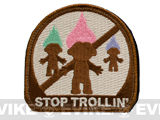 "Evike.com ""Stop Trollin'"" IFF Velcro Patch (Brown)"