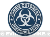 Zombie Outbreak Response Team 60mm PVC Hook and Loop Patch - Blue / White