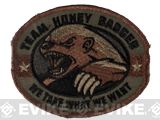 "Mil-Spec Monkey ""Honey Badger"" Embroidered Velcro Patch - Forest"