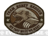 "Mil-Spec Monkey ""Honey Badger"" Embroidered Velcro Patch - Multicam"
