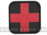 Condor 50mm Tactical Velcro Patch - Medic (Black / Red)
