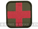 Condor Embroidered Medic Hook & Loop Patch (Color: OD Green)