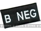 Matrix Military Spec. 50mm Blood Type Patch w/ Hook Backing- B NEG