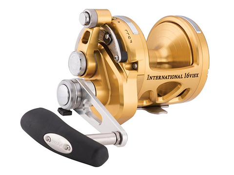 Penn International VISX 2-Speed Lever Drag Reel (Model: INT16VISXS / Gold)
