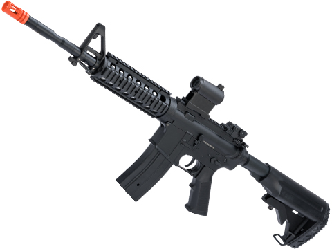 JG M4 RIS Airsoft AEG Rifle w/ Hurricane Type Crane Stock (Package: Black / Gun Only)