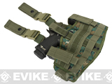 Phantom Gear Navy Seal Drop Leg Thigh Holster Rig - Digital Woodland Marpat
