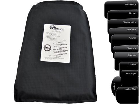 Phalanx Defense Systems Stealth Operator™ Soft Armor Protection Panels / Safety Plate