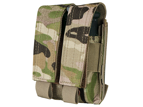 Phantom Gear Tactical MOLLE Double Pistol Magazine Pouch (Color: Multicam)