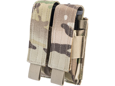 Condor Tactical MOLLE Double Pistol Magazine Pouch (Color: Multicam)