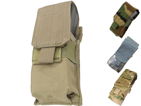 Tactical MOLLE Ready Tactical M4 M16 Magazine Pouch by Phantom Gear (Color: Tan)