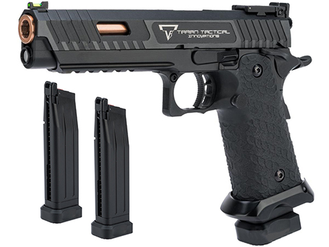 EMG STI / TTI Licensed JW3 2011 Combat Master Airsoft Training Pistol (Model: Green Gas / Add 2 Spare Magazines)