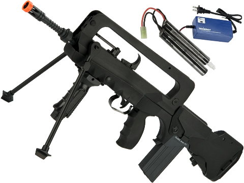 FAMAS Bullpup Airsoft AEG Rifle Fully Licensed by Cybergun (Model: F1 EVO w/ MOSFET / Battery Package)