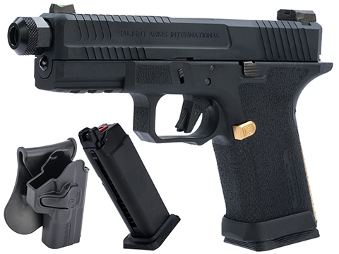 EMG Salient Arms International BLU Compact Airsoft Training Weapon (Type: Green Gas Mag / Carry Package)