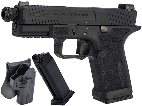 EMG Salient Arms International BLU Compact Airsoft Training Weapon (Type: Blackout w/ Green Gas Mag / Carry Package)