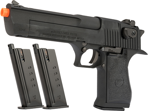 WE-Tech Desert Eagle .50 AE Full Metal Gas Blowback Airsoft Pistol by Cybergun (Color: Black / Reload Package)